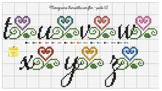 Cross Stitch Alphabet Patterns, Cross Stitch Letters, Cross Stitch Embroidery, Loom Patterns, Crochet Patterns, Loom Weaving, Plastic Canvas, Needlework, Bullet Journal