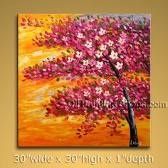 Stunning Original Impressionist Palette Knife Oil Painting On Canvas Panels Gallery Stretched Flower. In Stock $185 from OilPaintingShops.com @Bo Yi Gallery/ ops7071