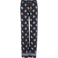 Markus Lupfer Agnes Floral-print Silk Trousers - Size L (£270) ❤ liked on Polyvore featuring pants, floral print trousers, floral printed pants, floral print pants, silk pants and floral pants