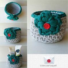 Cesta multiusos de trapillo , dia de la madre regala artesania #cesta #crochet #trapillo #avon #love #diadelamadre #artesania #instagramcrochet #sweet#photooftheday #pedidosaqui #crochetaddict #basket #regalos