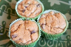 Pumpkin chocolate chip muffins. 3 ingredients, couldn't be easier or taste better. (Quick 3 Ingredients Chocolate Chips)