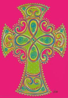 """Celtic Cross Mini Flag by Custom Decor. $4.00. Permanently Dyed with a Vivid Color Process. Garden Flag Outdoor Décor. 100% Polyester - Fade & Mold Resistant. Flag Measures Approximately 12"""" x 18"""". Bright Beautiful Artwork. ##################################################################################################################################################################################################################################################..."""