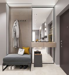 Home Hall Design, House Design, Apartment Interior, Apartment Design, Home Entrance Decor, Entrance Hall, Flur Design, Hallway Furniture, Bathroom Interior Design