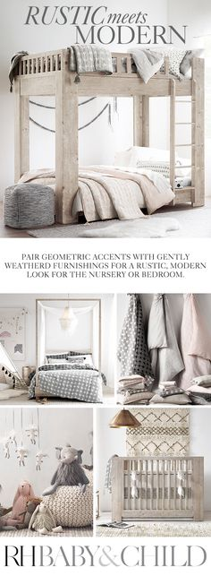 Love these colors and textures❤️Natural materials, organic textures and muted tones add a relaxed note to clean-lined, modern designs. Shop this style at RH Baby & Child. Girl Room, Girls Bedroom, Master Bedrooms, Baby Room, Bedroom Ideas, Little Mac, Rh Baby, New Room, Natural Materials