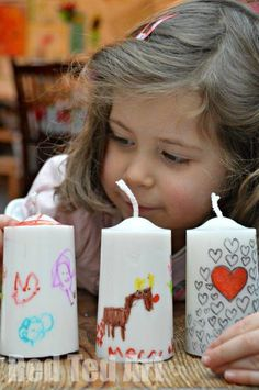 Gifts Kids Can Make for grandparents! Sharpie and  dollar store candles