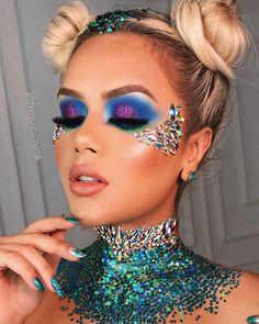 Disney princess makeup, crazy makeup, make up art, makeup rooms, makeup a. Make Up Looks, Coachella Make-up, Make Carnaval, Glitter Carnaval, Eyeliner, Makeup Eyeshadow, Festival Make Up, Glitter Make Up, Festival Makeup Glitter