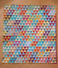 grumpystitches: Diamonds, really! I love, love triangle quilts!