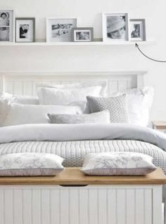 Country white bedroom