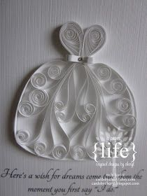 ~ a paper {life}: ~ quilled wedding dress