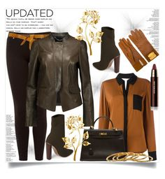 """""""Updated: Update Your Look This Winter 2017"""" by helenaymangual ❤ liked on Polyvore featuring Ted Baker, Diane Von Furstenberg, Hourglass Cosmetics, Isabel Marant, Belstaff, Steve Madden, Hermès and Gorjana"""