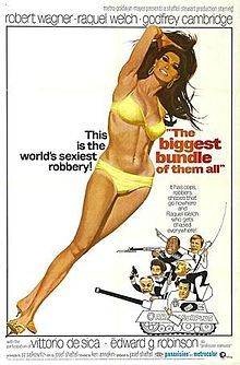 The Biggest Bundle of Them All is a 1968 American crime film set in Naples, Italy. The story is about a mobster and a novice gang of crooks who team up to steal 5 million worth of platinum ingots from a train. The film stars Robert Wagner and Raquel Welch and was directed by Ken Annakin.