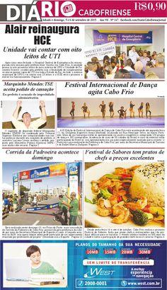 Folheie aqui o seu DIÁRIO CABOFRIENSE de sábado e domingo, 5 e 6 de setembro  Telma Flora | editora chefe <3