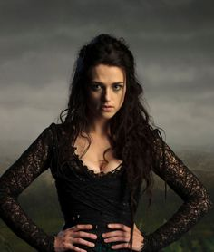 How small is her waist! The stunning Katie McGrath, Morgana in the BBC TV series Merlin