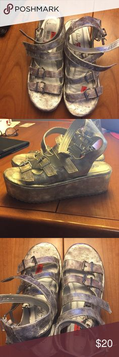 Groovy Silver Platforms size 7 w Penny Loves Kenny Silver platforms. Never worn out of the house. Super fun 2 inch platform. Size 7 w. Penny Loves Kenny Shoes Platforms
