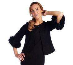 NEW Joan Rivers Ruffle Sleeve Jacket A215817 boutique CHIC  XXS, XS, S, L #JoanRivers #Blazer