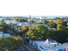 Key West, FL Atop the roof of Crown Plaza La Concha Key West on Duval Street.  Awesome view to go with your morning coffee.