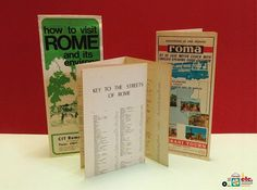 1970s Rome Travel Guides Set of 3 Travelers Information