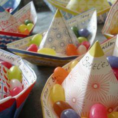 diy barquito de papel con caramelos manualidades niño jelly beans paper boat kids children craft miraquechulo