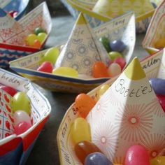 diy barquito de papel con caramelos manualidades niño jelly beans paper boat kids children craft miraquechulo