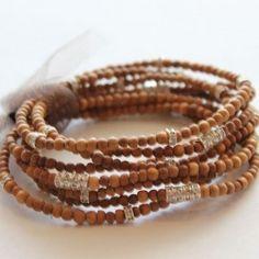 Stackable Beaded Bangles   Stackable Wooden Bead Bracelets