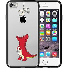 Find amazing iPhone 7 Case, JAHOLAN Amusing Whimsical Design Clear Bumper TPU Soft Case Rubber Silicone Skin Cover for iPhone 7 - Dinosaur Rabbit dinosaur gifts for your dinosaur lover. Great for any occasion! 5s Cases, Iphone 7 Plus Cases, Apple Iphone 6, Funny Cartoon Characters, Dinosaur Gifts, Dinosaur Pattern, Tech Gifts, Animal Fashion, Living At Home