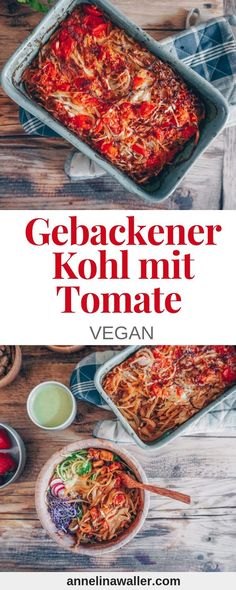Einfacher gebackener Kohl mit Tomate Simple baked cabbage with tomato, vegan recipes german, vegan r Vegan Lunch Recipes, Raw Food Recipes, Healthy Recipes, Baked Cabbage, Cuban Recipes, Cabbage Recipes, Nutrition, Vegetarian Breakfast, Quick Meals