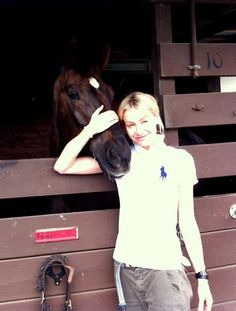Portia and her horse Relli...