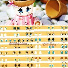 DIY garden decoration ideas painting doll eyes tutorial www.diy-enthusiasts.com