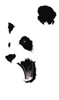 Negative space Panda