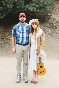 「フォレストガンプ」のカップル用コスチューム!普段着ている洋服にちょっとアイテムを追加して映画のようにピュアな二人に♡映画の手作りハロウィンコスチューム