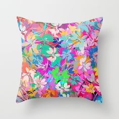 Floral abstract(47). Throw Pillow