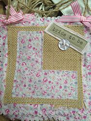 How cute is this vintage fabric L plate!