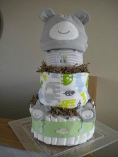 BabyCakes-Hippo-  cute for a boy baby shower