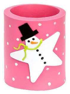 Bright Snowman Can Cozy - not into the cozy but love the idea of turning a star into a snowman