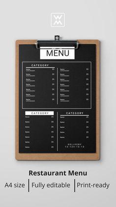 Drink Menu Design, Cafe Menu Design, Menu Card Design, Cafe Shop Design, Restaurant Menu Design, Restaurant Branding, Carta Restaurant, Menue Design, Coffee Shop Menu