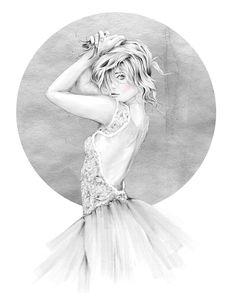 Fashion illustration - pretty fashion drawing // Will Ev