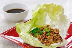 These quick and easy authentic Asian Chicken Lettuce Wraps are so delicious, made with sautéed ground chicken thighs, shiitake mushrooms and water chestnuts seasoned with Asian spices served in a crispy cold lettuce leaf with a spicy hoisin dipping sauce. Low Carb Recipes, Cooking Recipes, Healthy Recipes, Drink Recipes, Delicious Recipes, Easy Recipes, Clean Eating, Healthy Eating, Asian Chicken Lettuce Wraps