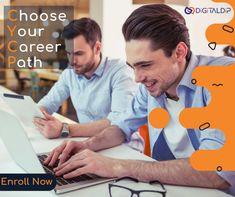 Choose your Career Path. Enroll Now Call on 8886602924 Inbound Marketing, Email Marketing, Content Marketing, Social Media Marketing, Digital Marketing, Web Analytics, Marketing Professional, Google Ads, Career Path