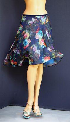 td 046 tango flowers skirt