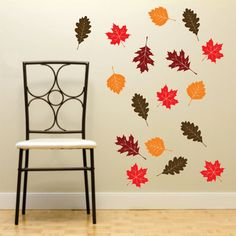 Autumn Leaves wall decals  Back to School fall by FairyDustDecals, $22.00