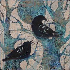 raven #indianaartist #originalart #artinfortwayne #suedavis #art #painting #crow