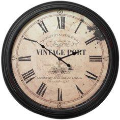 Vintage Port Wall Clock ($170) ❤ liked on Polyvore
