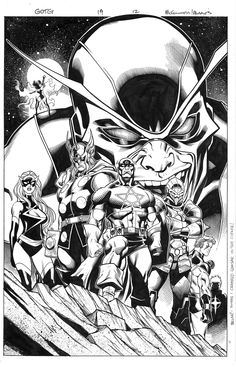 Guardians of the Galaxy #19 by Ed McGuinness and Mark Morales *