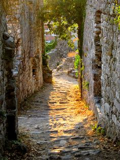 Ancient Passageway, Stari Bar, Montenegro  photo via petit
