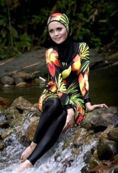 swim-suit Arab Girls Hijab, Girl Hijab, Muslim Girls, Bikini 2017, The Bikini, Muslim Fashion, Hijab Fashion, Women's Fashion, Muslim Swimwear