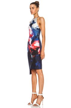 NICHOLAS Backless Silk Dress in Thermo Floral