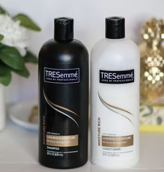 Tresemme Luxurious Moisture Shampoo and Conditioner - LOVE! My hair is shiny and healthy and my curls bounce!