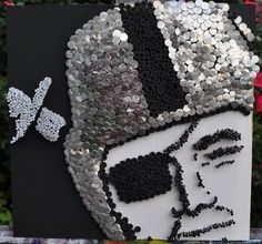 Oakland Raider Nail and Screw Sculpture by Summo. $199.00, via Etsy.