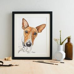 Capture the unique character of your dog in a colourful watercolour portrait, hand drawn and painted from your own photographs. This also makes a special gift for dog-owning friends and family, or fo. Watercolor Portraits, Watercolour Painting, Creative Industries, Wildlife Art, Dog Portraits, Creative Studio, Paper Texture, Dog Gifts, Creative Photography