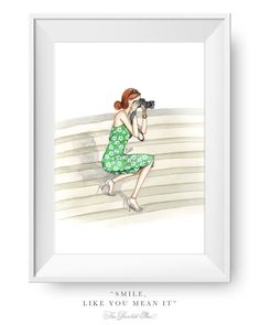 Fashion illustration print Fashion art por ThePaintedShoeArt